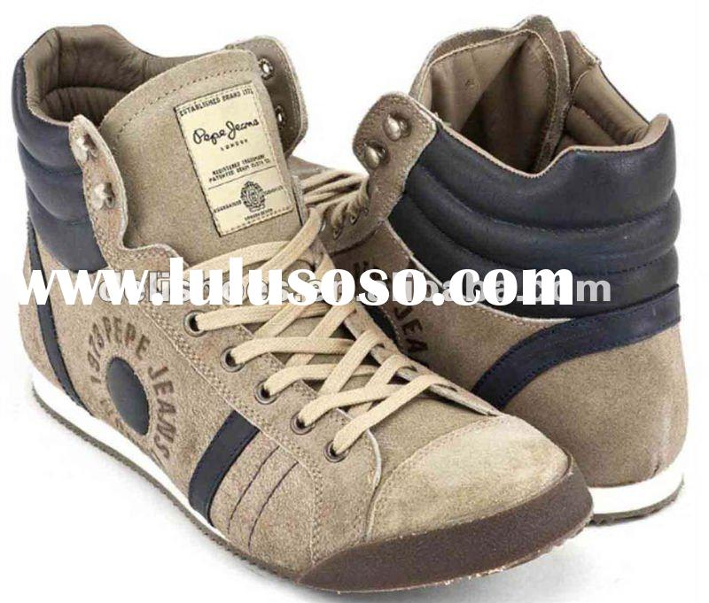 brand fashion mens high cut casual shoes 2012