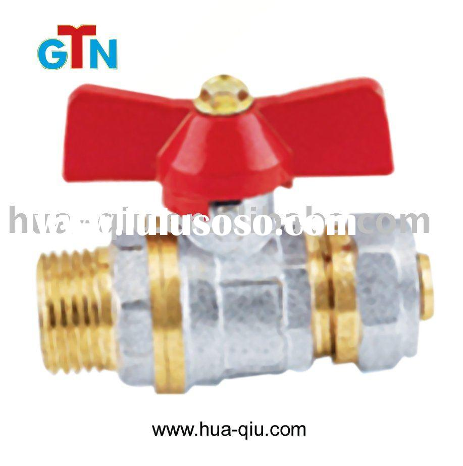 brass ball valve with T handle pex-pipe fitting