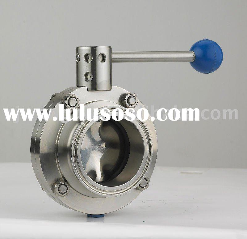 butterfly valve handle with ball