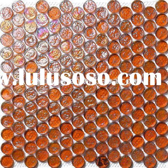 candy crystal glass mosaic tiles for swimming pool, iridescent glass tile