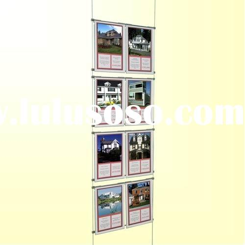 ceiling-hang Acrylic Poster Frame with 8 sections
