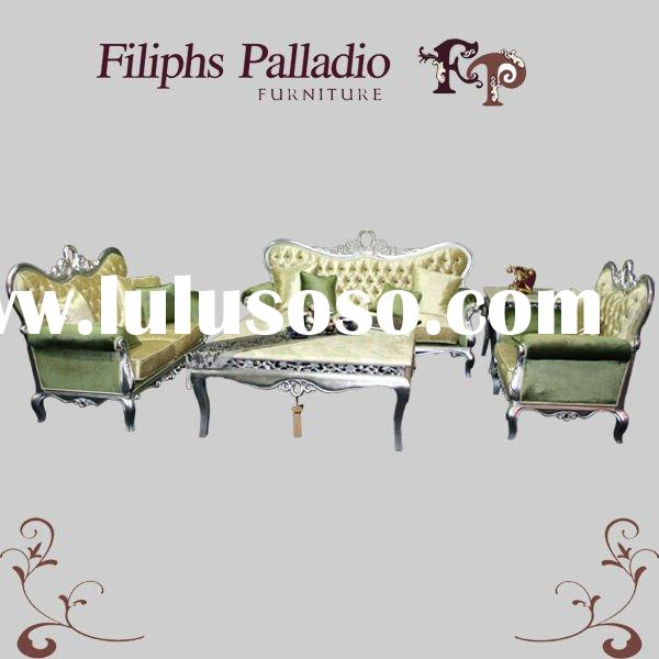 classic italian furniture - royal silver solid wood classic sofa set