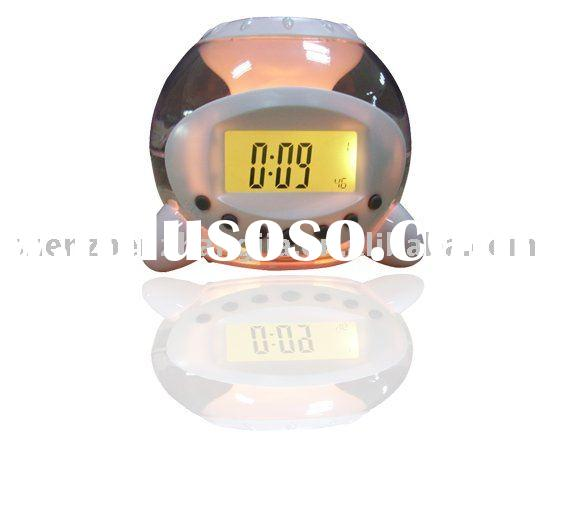 colorful flash lamp with natural alarm clock