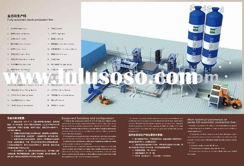 concrete block making fully automatic production line