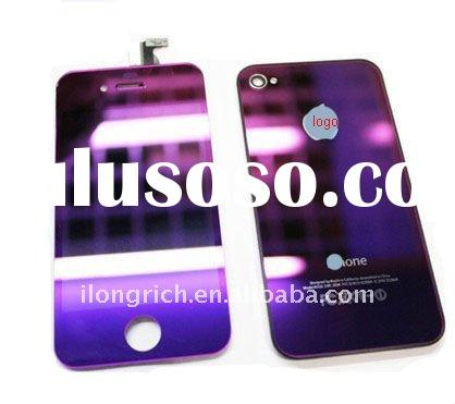 for iphone 4 purple mirror plating screen lcd full set conversion kit