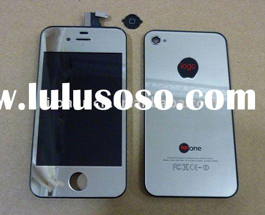 for iphone 4 silver mirror screen lcd full set conversion kit