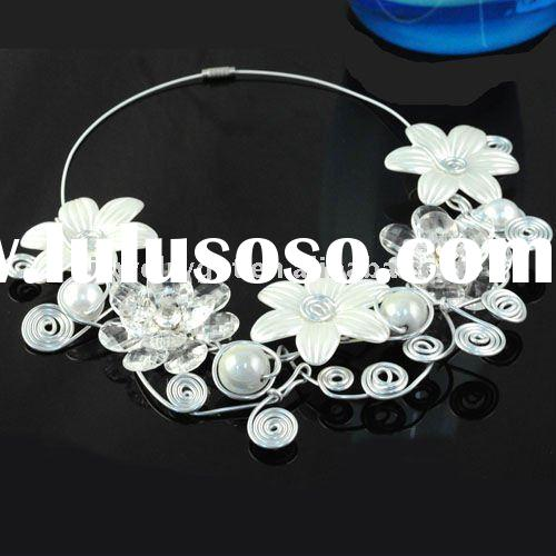 free shipping ,costume jewelry necklace, 2011 new design chunky style beaded choker nl-1329