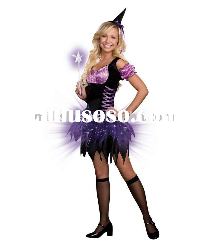 halloween children flashing witch fancy dress costumes for kids MAC-0398