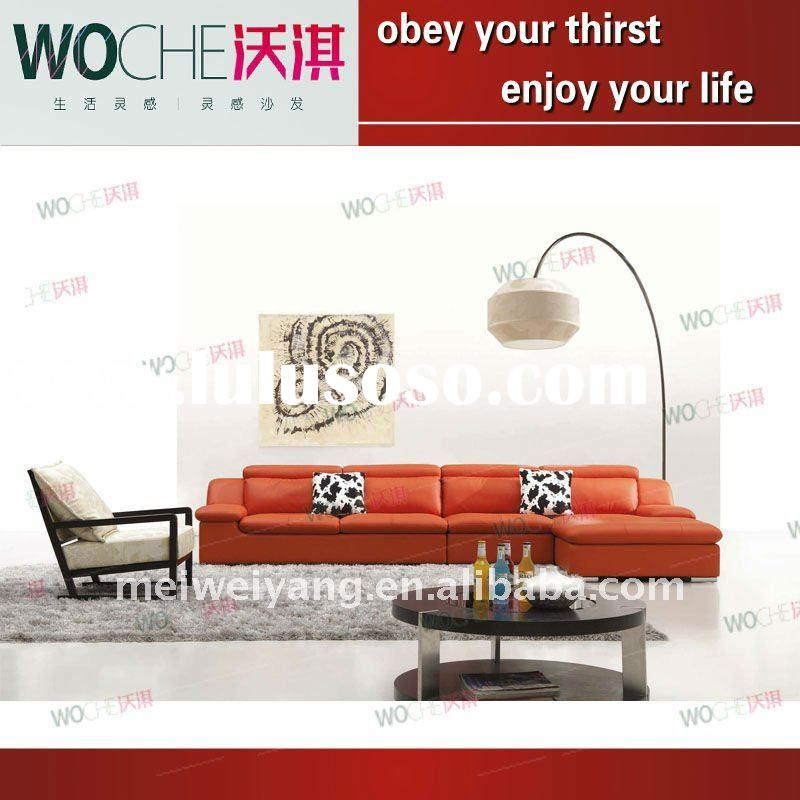 high quality modern leather living room sofa furniture (WQ6850)