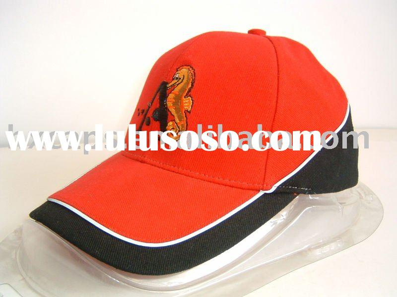 hot sell fashion cotton red baseball cap with embroidery