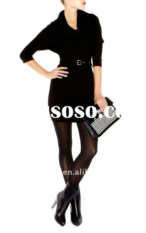 hot selling Free Shipping Wholesale Women's black dress, new fall dress, ladies fashion dres