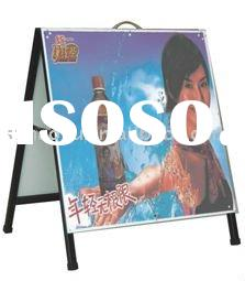 iron sheet double sided A banner,A board,banner stand