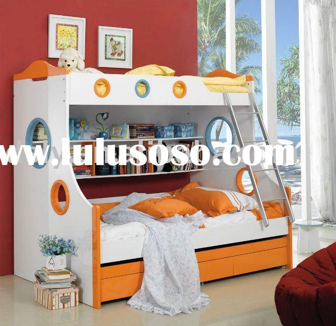 kids bedroom furniture bunk bed(MDF & PU Painting)