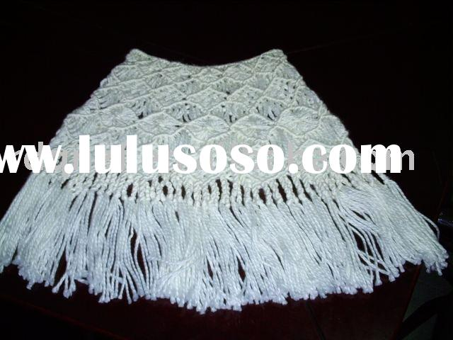 knitting shawl/acrylic shawl/ladies' shawl/fashion accessory