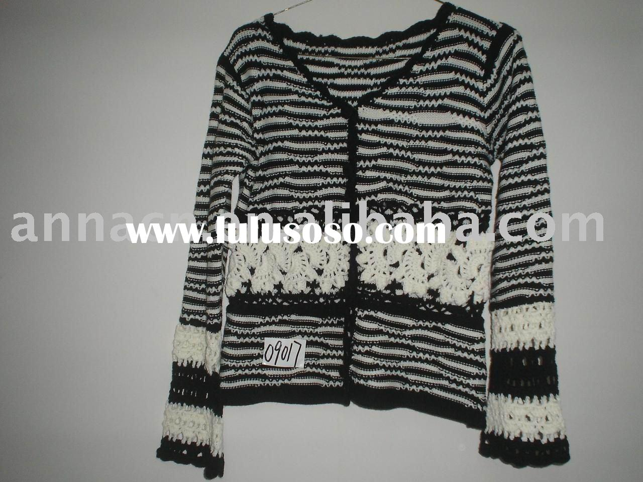 ladies' knitted & crochet cardigan sweater