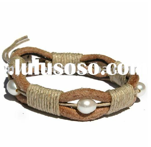leather pearl bracelet(SLL2031)