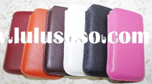 leather pouch case for mobile phone 4GS