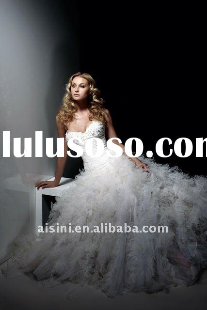 luxury zuhair murad ball gown sweatheart wedding dress