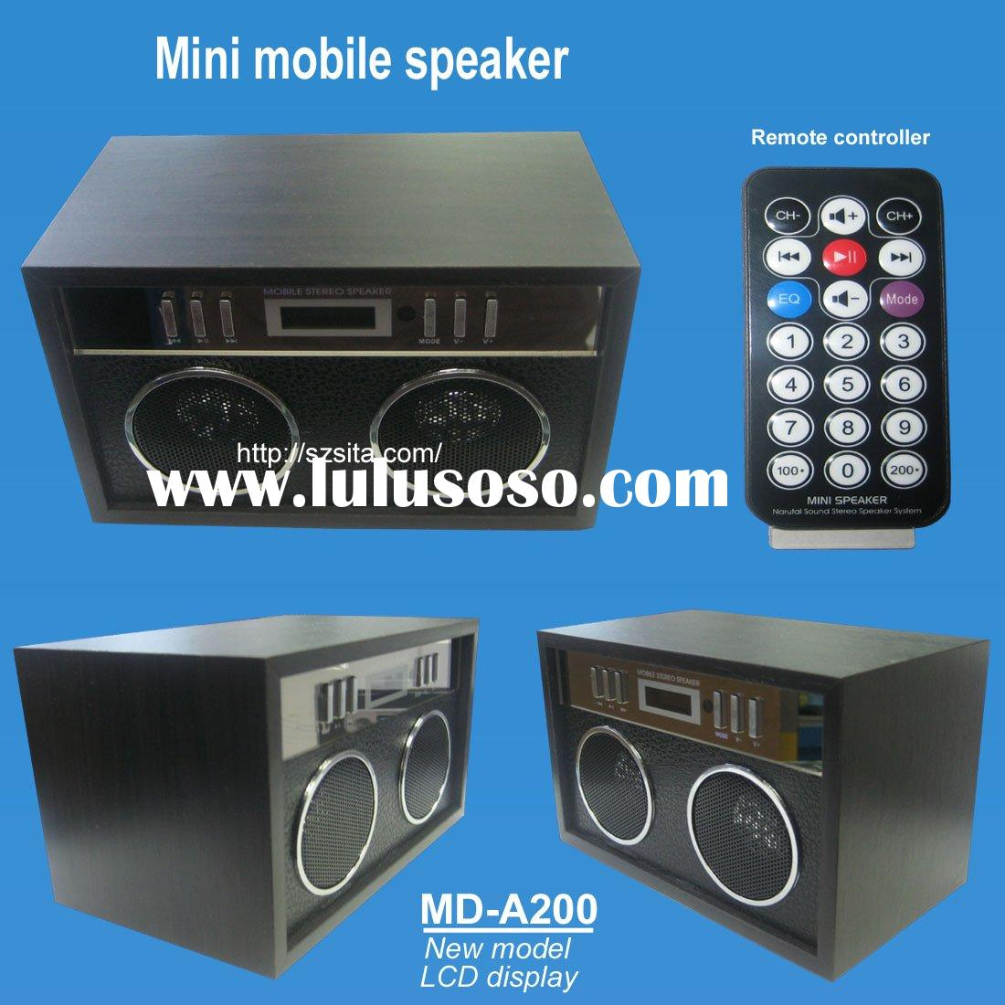 mini mobile speaker read USB disk and SD card enjoy music anywhere and anytime