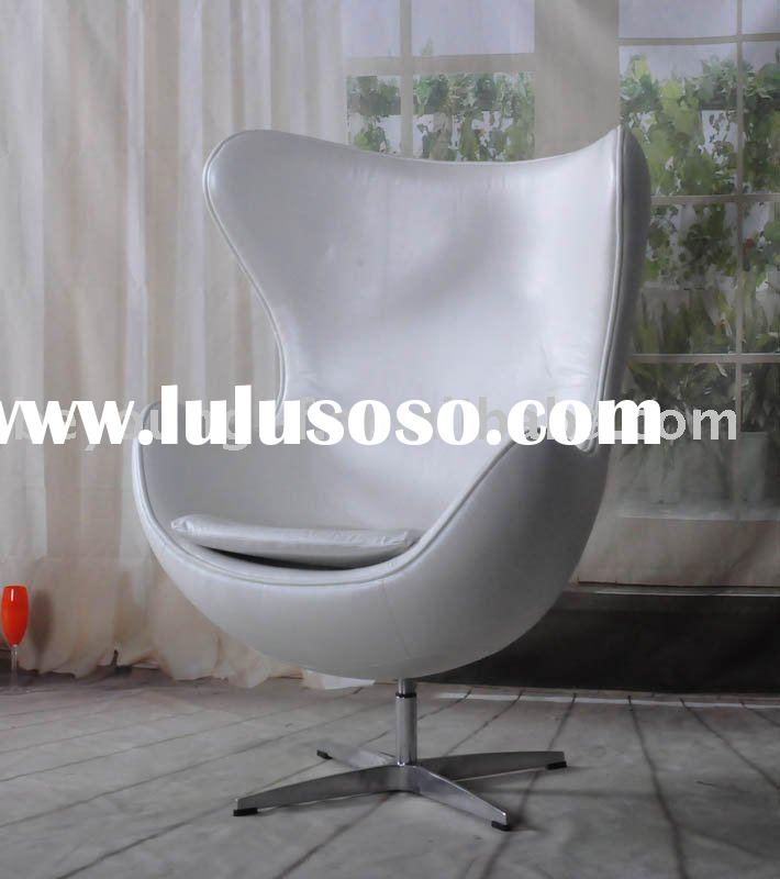 modern classic furniture fibre glass chair leather swivel chair egg chair