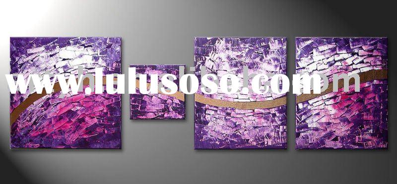 modern purple wall art decor painting
