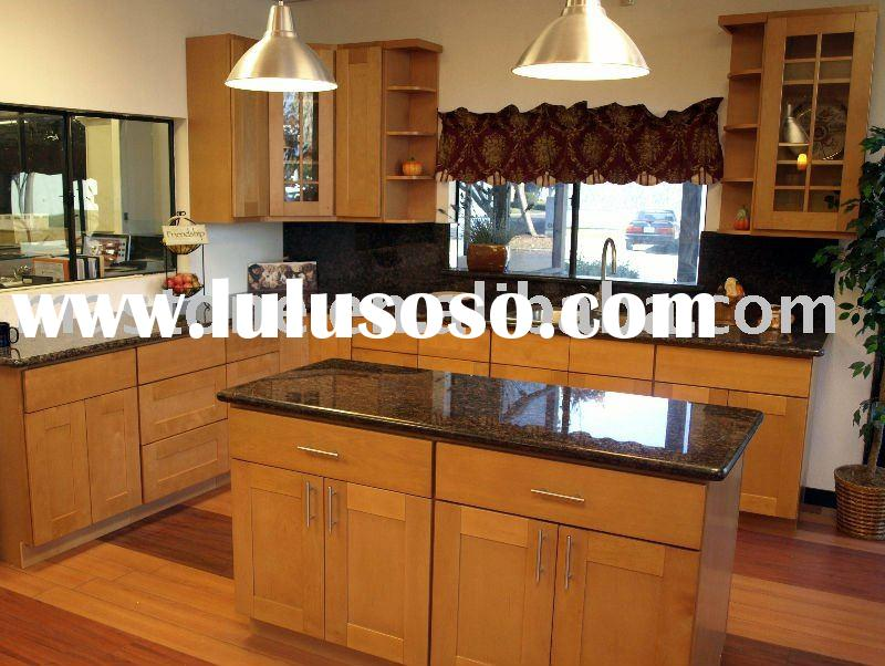 modern style solid wood kitchen cabinet