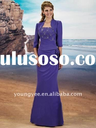 new style blue chiffon mother of the bride dresses 2011,mother of the bride evening dresses