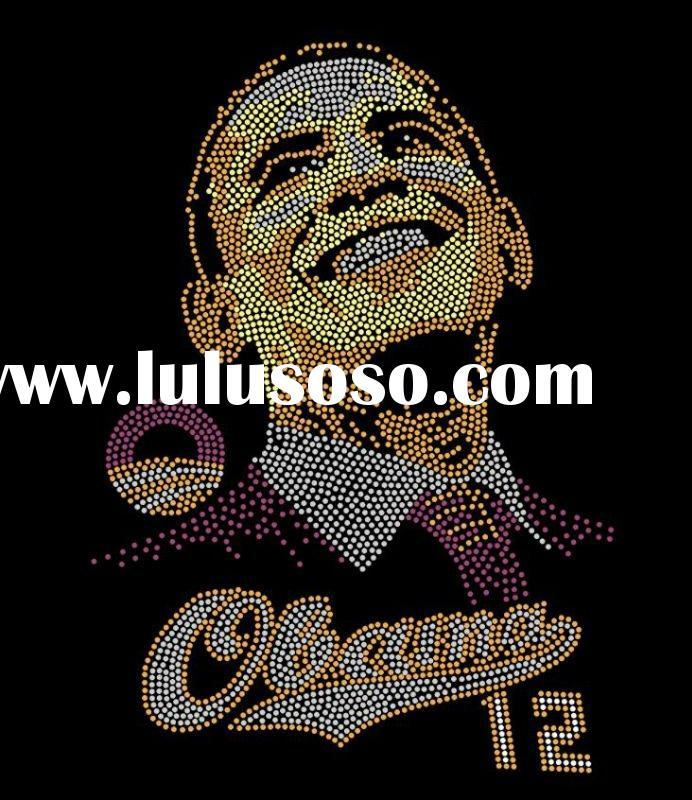 obama 2012 for rhinestone heat transfer iron on
