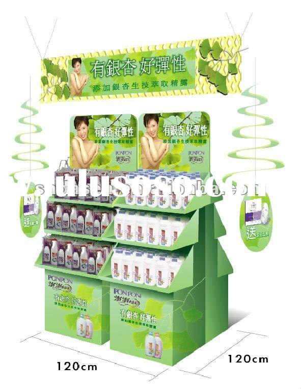 paper display stand for skin care products