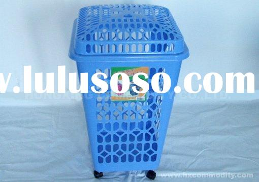 plastic laundry basket,cloth basket with lid,clothes storage basket,christmas basket,pp basket