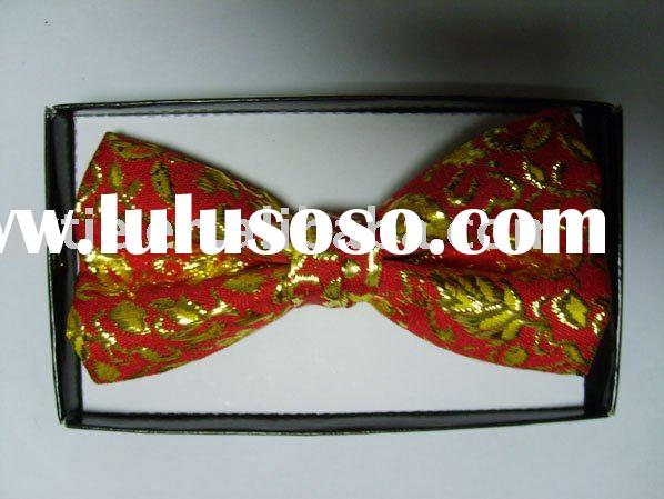 polyester men's bow tie