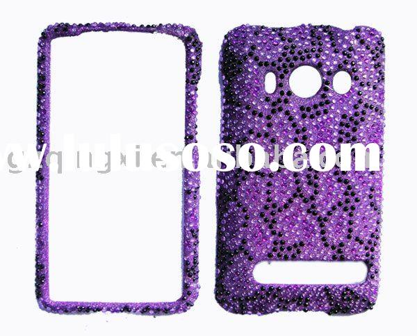 rhinestone bling snap on case for HTC EVO 4G