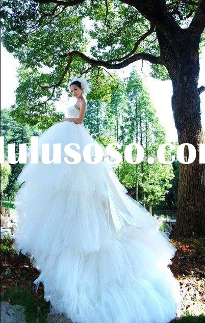 royal cathedral luxury ball gown romantic wedding dress wedding gown
