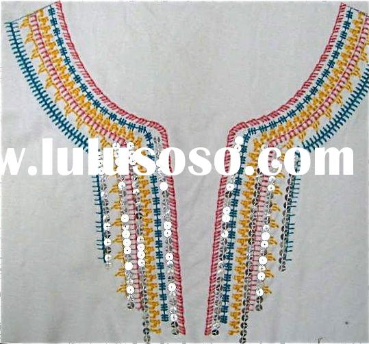 sequin kurta neck embroidery designs
