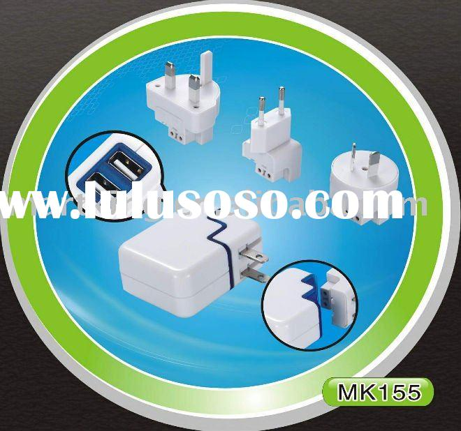 shenzhen multi plugs mobile phone charger for ipad/ipad2/iphone