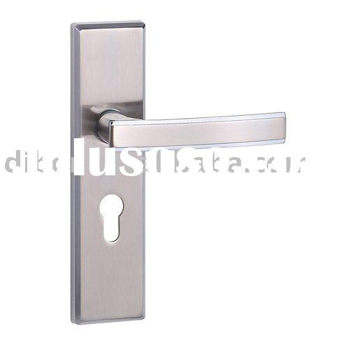 solid zinc alloy door fitting lock handle set for hotel use