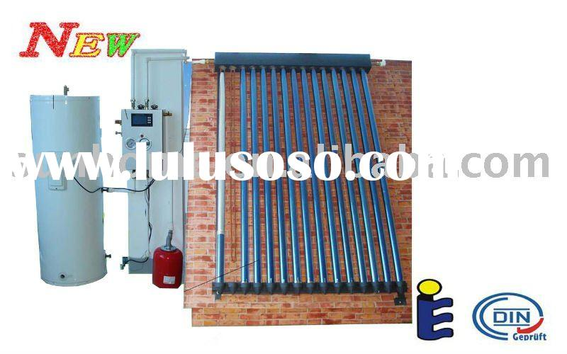 split pressurized closed loop solar water heater system with coil