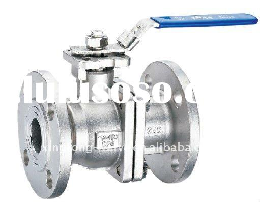 stainless steel flanged ball valve of ANSI DIN type