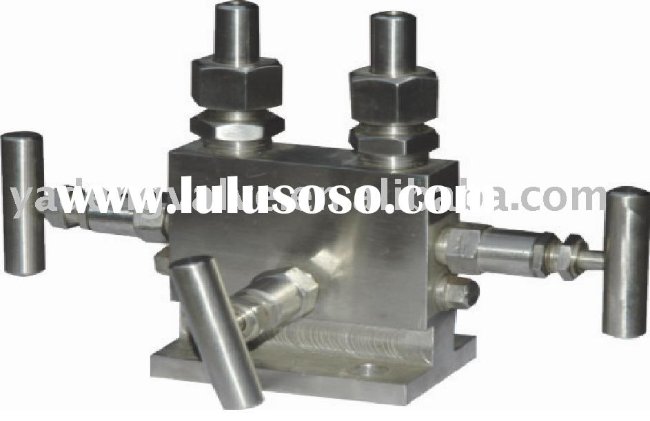 stainless steel high pressure 3-way valve manifold