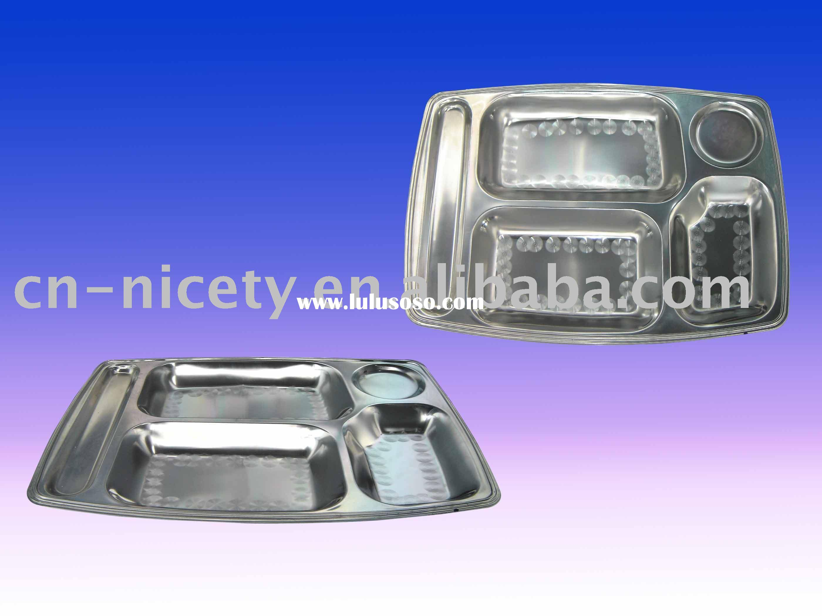 stainless steel lunch plate(food container,dinner plate)