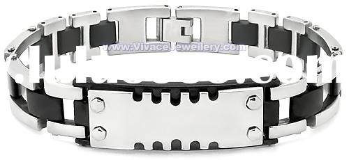 stainless steel with silicone bracelet,magnetic bracelet,negative ion bracelet,energy bracelet,SSB-5