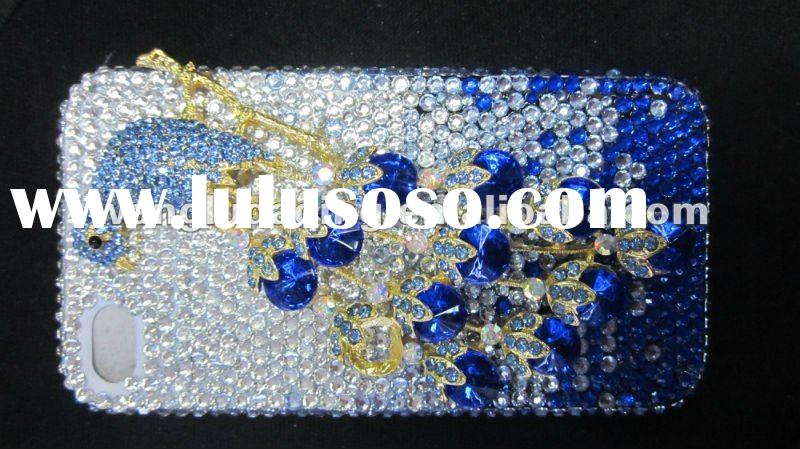 the latest craze bling crystal diamond mobile phone case for iPHONE 4G/4S