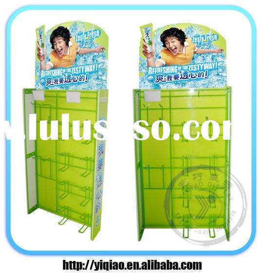 toothpaste floor steel wire display stand with hooks