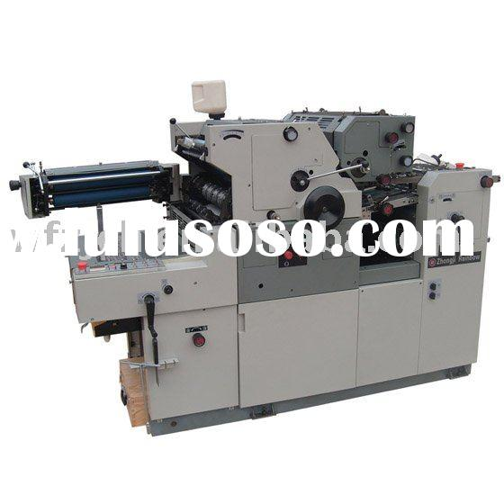 two color offset printing press with numbering machine ZJ47NPS