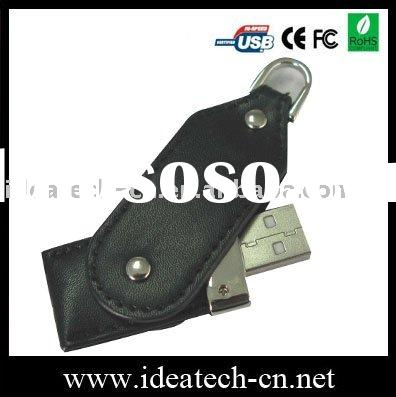 usb flash drive, custom leather case usb disk, cheapest leather model