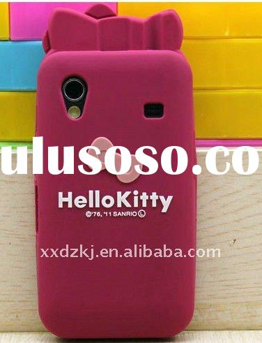 very fashion bownot hello kitty silicone case for samsung galaxy ace s5830