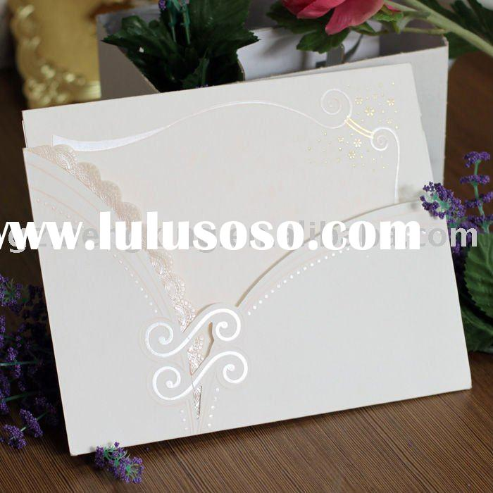 wedding invitation cards wedding decorate handmade invitations including inner paper -- T019