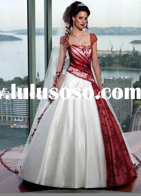 white and red wedding dress 2011