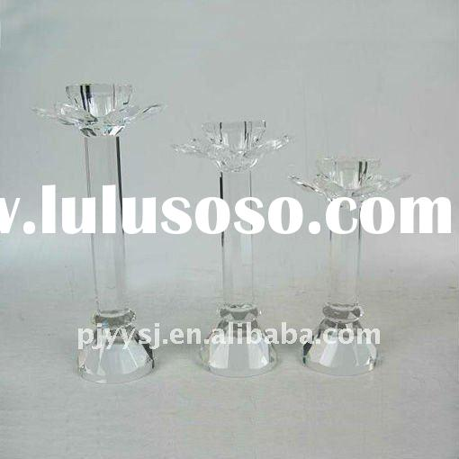 wholesale crystal glass candle holder