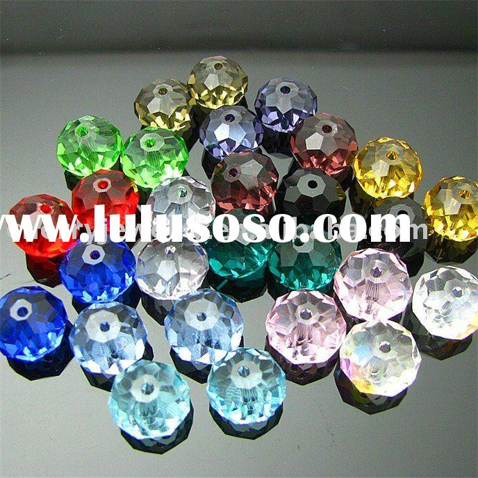 wholesale fashion jewelry mix colour rondelle crystal bead